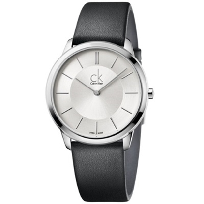 Picture of Calvin Klein Minimal Men's Watch with Black Leather Strap