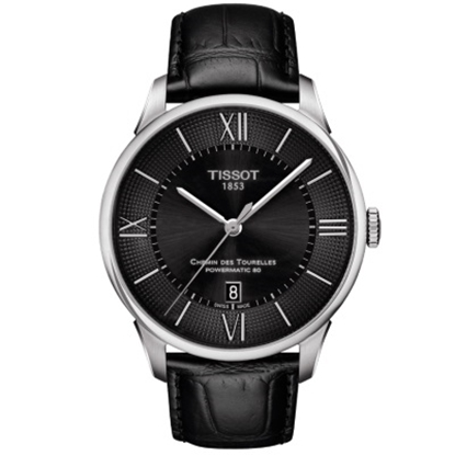Picture of Tissot CDT Powermatic 80 Black Leather Watch