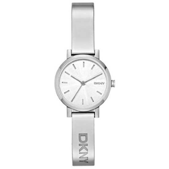 Picture of DKNY Soho Silver-Tone Bangle Watch with Silver Dial