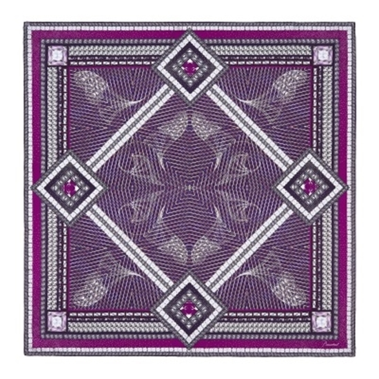 Picture of Baccarat Louxor Silk Twill Scarf - Purple