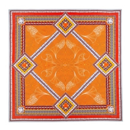 Picture of Baccarat Louxor Silk Twill Scarf - Orange