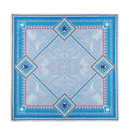 Picture of Baccarat Louxor Silk Twill Scarf - Light Blue