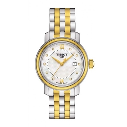 Picture of Tissot Bridgeport Quartz Stainless Steel Watch with White Dial