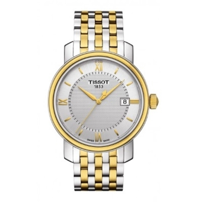 Picture of Tissot Bridgeport Quartz Two-Tone Watch with Silver Dial