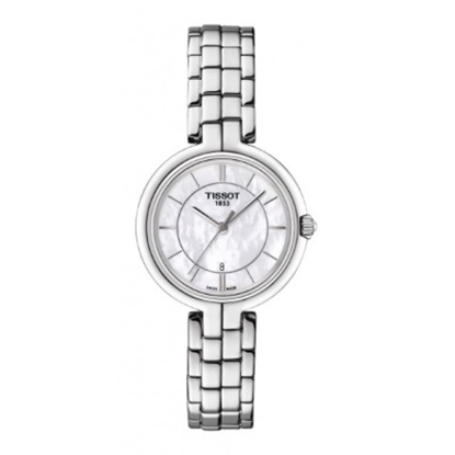 Picture of Tissot Flamingo Quartz Stainless Steel Watch w/ White MOP Dial