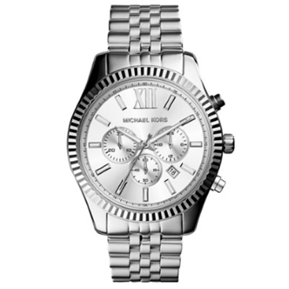 Picture of Michael Kors Lexington Stainless Steel Watch with Silver Dial