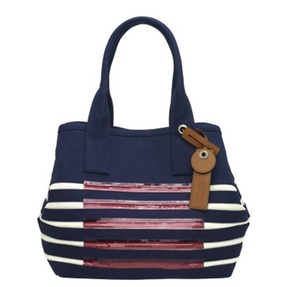 Picture of Marc by Marc Jacobs St. Tropez Beach Tote - Prussian Blue/Ecru