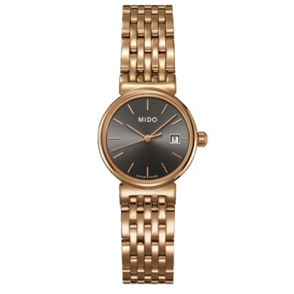 Picture of Mido Dorada Rose Gold Stainless Steel Watch w/ Anthracite Dial