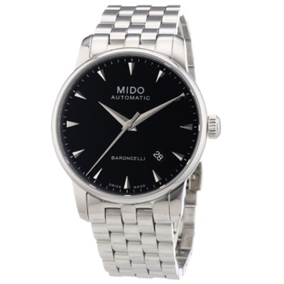 Picture of Mido Baroncelli II Auto Stainless Steel Watch with Black Dial