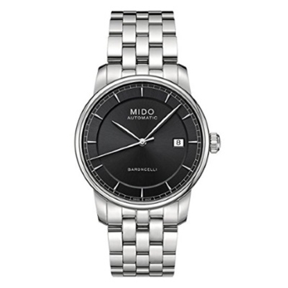 Picture of Mido Baroncelli Automatic Stainless Steel Watch w/ Black Dial