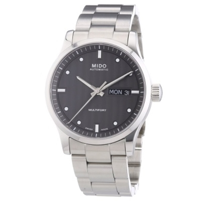 Picture of Mido Multifort Auto Stainless Steel Watch with Anthracite Dial