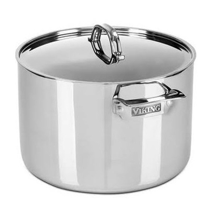 Picture of Viking 3Ply 12-Qt. Stock Pot with Metal Lid