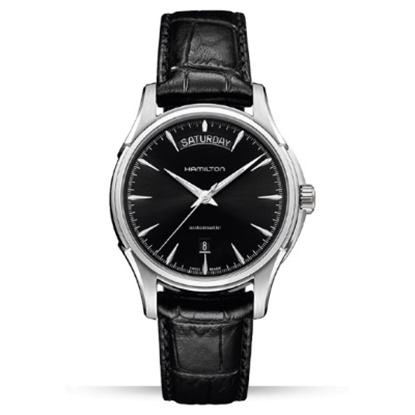 Picture of Hamilton Jazzmaster Day Date Auto w/Black Dial & Leather Strap