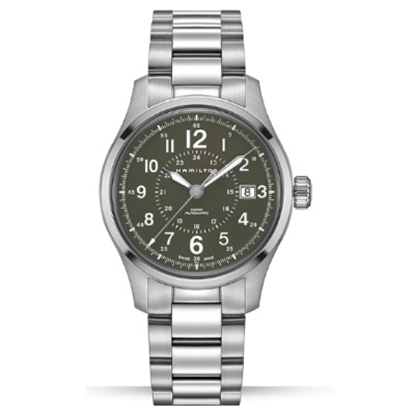 Picture of Hamilton Khaki Field Auto Stainless Steel Watch w/ Green Dial