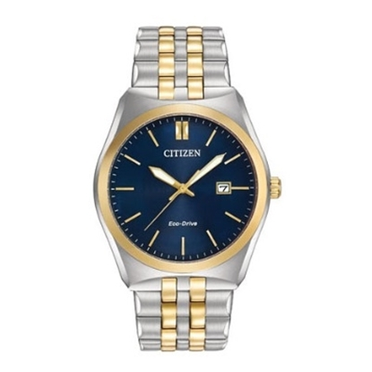Picture of Citizen Eco-Drive Men's Two-Tone Corso Watch with Blue Dial
