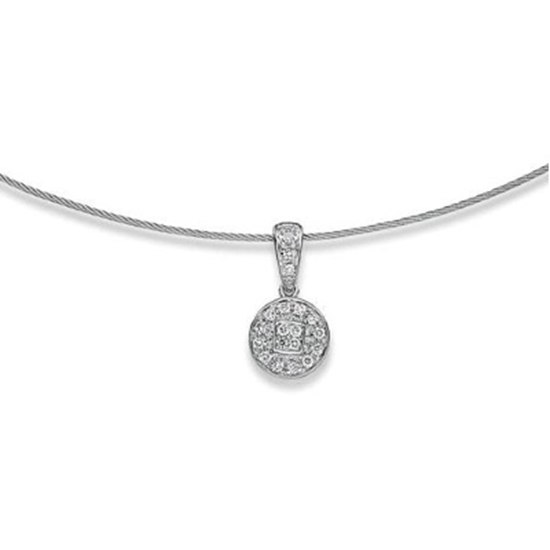 Picture of ALOR Classique 18K White Gold & Cable Necklace with Diamonds