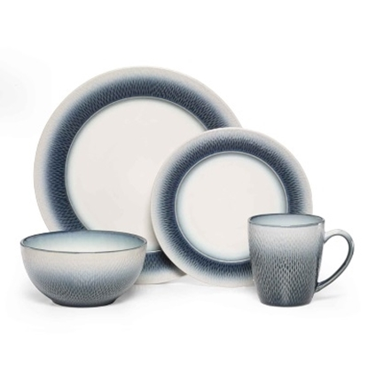 Picture of Pfaltzgraff Eclipse Blue 16-Piece Dinnerware Set