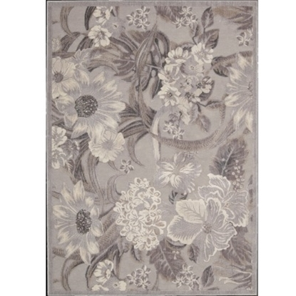 Picture of Nourison Graphic Illusions 5'3'' x 7'5'' Rug - Grey