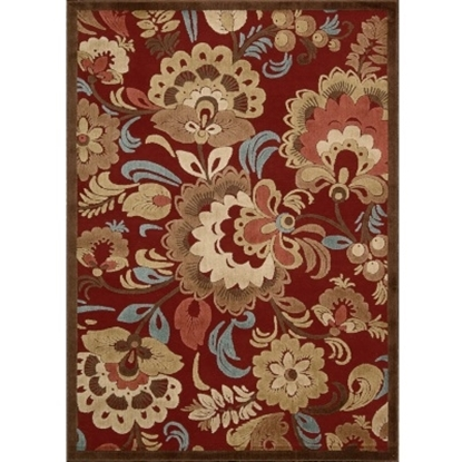 Picture of Nourison Graphic Illusions 5'3'' x 7'5'' Rug - Red