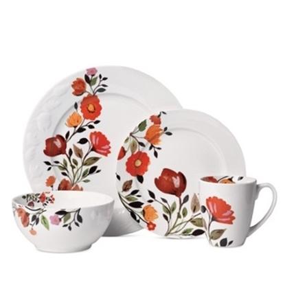 Picture of Kim Parker Tulips 16-Piece Dinnerware Set