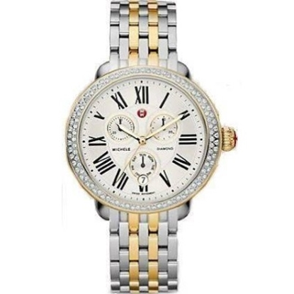 Picture of Michele Serein Diamond Two-Tone Gold & Stainless Steel Watch