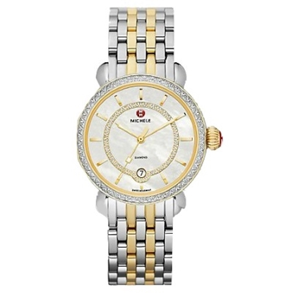 Picture of Michele® Two-Tone CSX Elegance Diamond Watch