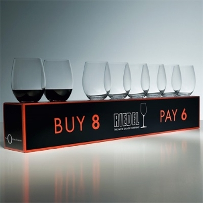 Picture of Riedel 'O' Stemless Set of Eight Wine Glasses- Cabernet/Merlot