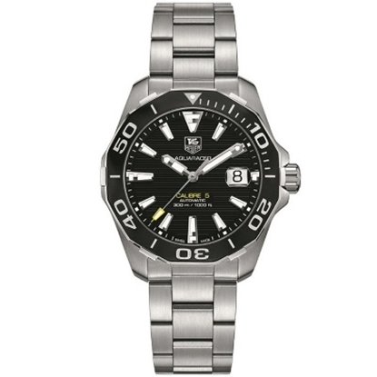 Picture of TAG Heuer Aquaracer Steel Auto Watch with Black Dial