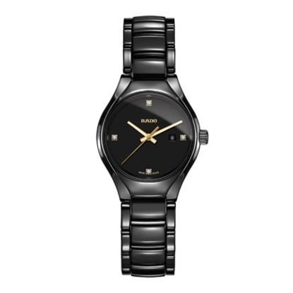 Picture of Rado True Quartz Diamonds Watch - Black
