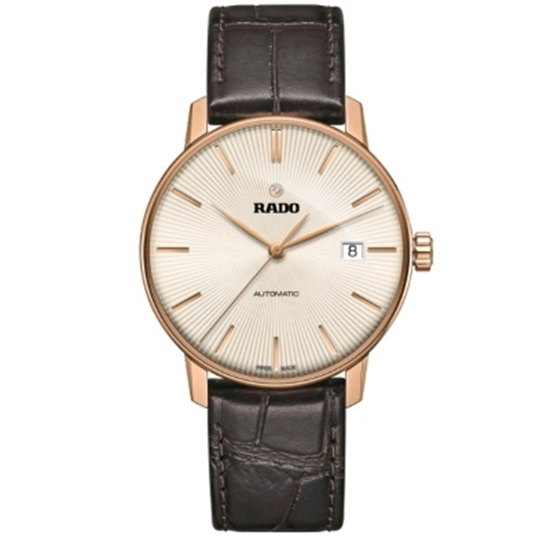 Picture of Rado Coupole Classic L Automatic Rose Gold PVD/Brown Watch