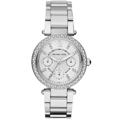 Picture of Michael Kors Parker Mini Silver-Tone Glitz Watch