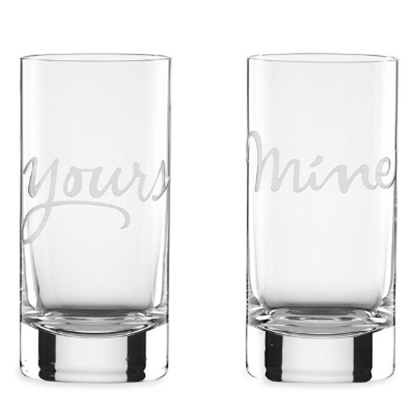Picture of Kate Spade 2 of a Kind Mine & Yours Highball Glasses- Set of 2