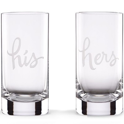Picture of Kate Spade 2 of a Kind His & Hers Highball Glasses - Set of 2