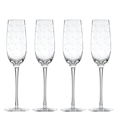 Picture of Kate Spade Larabee Dot Flutes - Set of 4