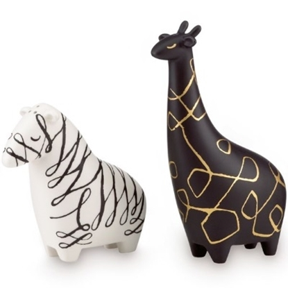 Picture of Kate Spade Woodland Park Zebra & Giraffe Salt & Pepper Shakers