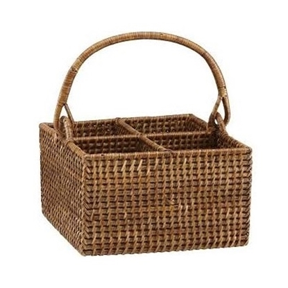 Picture of The French Chefs™ Rattan Four-Bottle Caddy