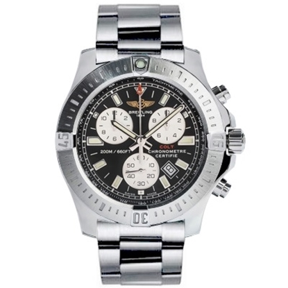 Picture of Breitling Colt Chrono Steel Watch with Volcano Black Dial