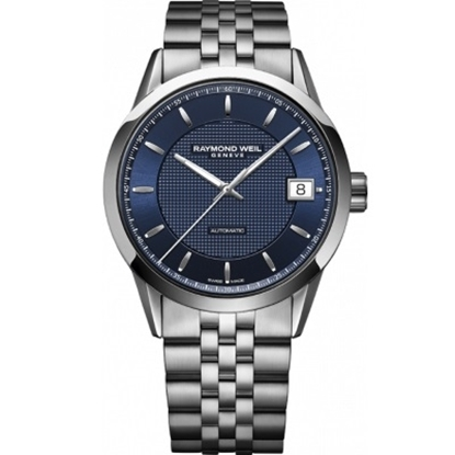 Picture of Raymond Weil Freelancer Stainless Steel Watch w/ Blue Dial