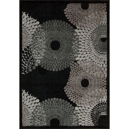Picture of Nourison Graphic Illusions 5'3''x7'5'' Rug - Black