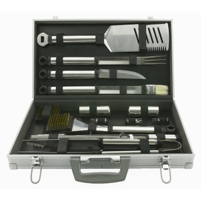 Picture of Mr. Bar-B-Q Silver Prestige 21-Piece Tool Set with Case