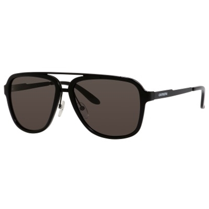 Picture of Carrera Metal Sunglasses - Black with Brown Grey Lens