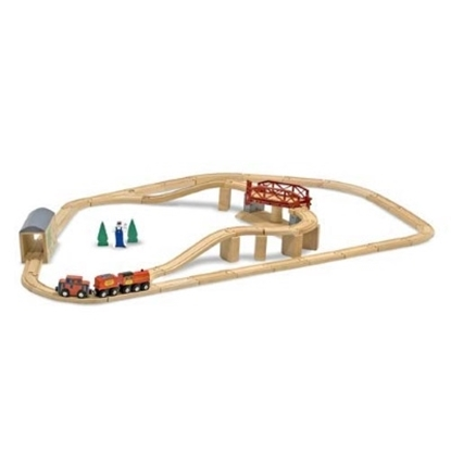 Picture of Melissa and Doug® Swivel Bridge Train Set