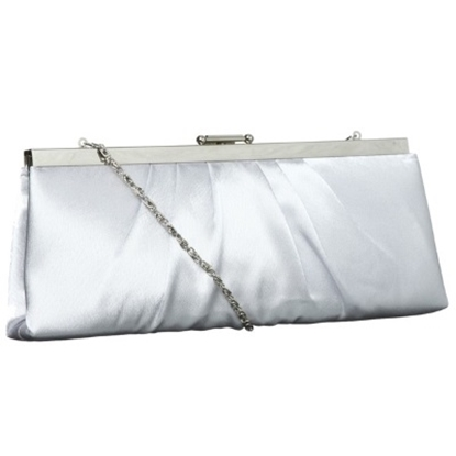 Picture of Jessica McClintock Satin Pleat Frame - Silver