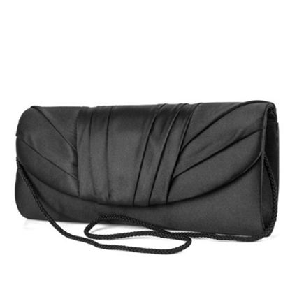 Picture of Jessica McClintock Tuxedo Flap Clutch - Black
