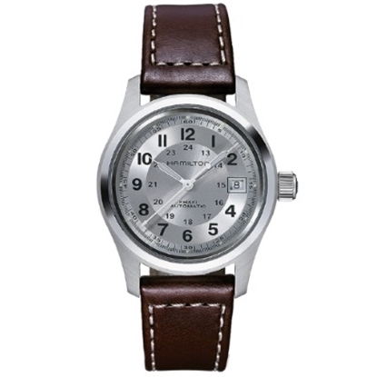 Picture of Hamilton Khaki Field Automatic Watch with Brown Leather Strap