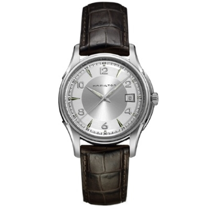 Picture of Hamilton Jazzmaster Gent w/ Brown Leather Strap & Silver Dial