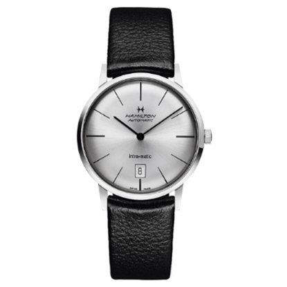 Picture of Hamilton Intra-Matic Auto with Black Leather Strap/Silver Dial