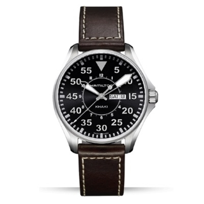 Picture of Hamilton Khaki Aviation Pilot with Brown Strap & Black Dial