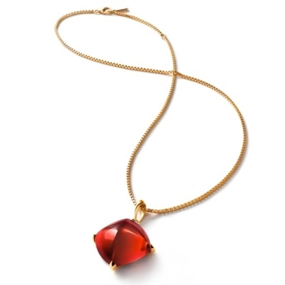 Picture of Baccarat Medicis Small Necklace - Red Mirror/Vermeil