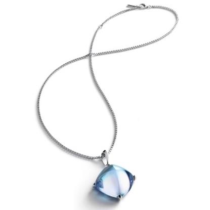 Picture of Baccarat Medicis Large Necklace - Aqua Mirror/Silver